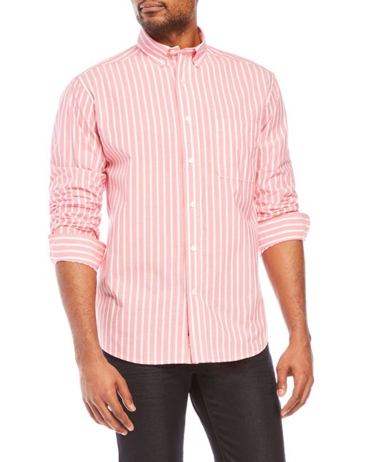 Bills Khakis | Pink Bengal Classic Fit Stripe Shirt for Men | Lyst