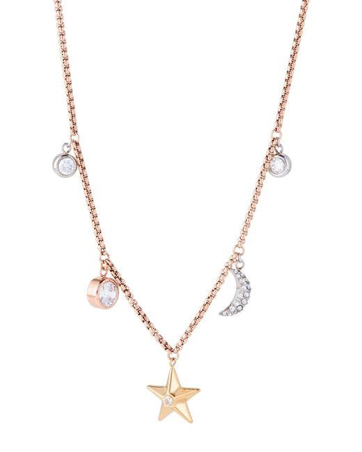 Michael Kors - Multicolor Rose Gold-tone Celestial Charm Necklace - Lyst
