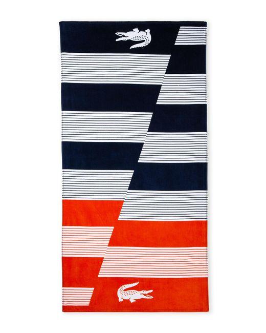 Ralph Lauren Mens Beach Towel: Lacoste Luz Beach Towel In Blue For Men