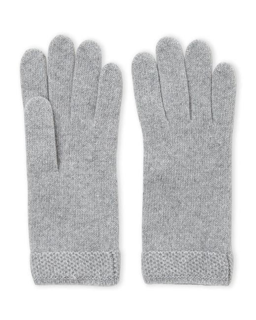 Portolano - Gray Cashmere Honeycomb Gloves - Lyst