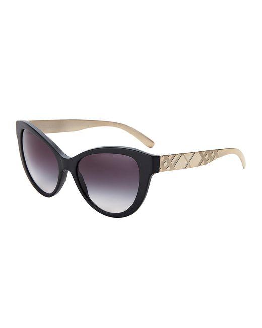 9611c5a6a2 Lyst - Burberry Be4220 Black Cat Eye Sunglasses in Black