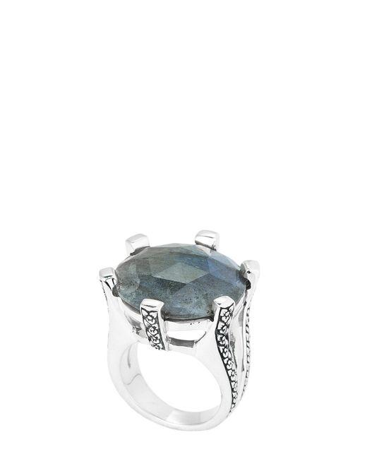 Stephen Dweck - Metallic Sterling Silver Labradorite Ring Size 7 - Lyst