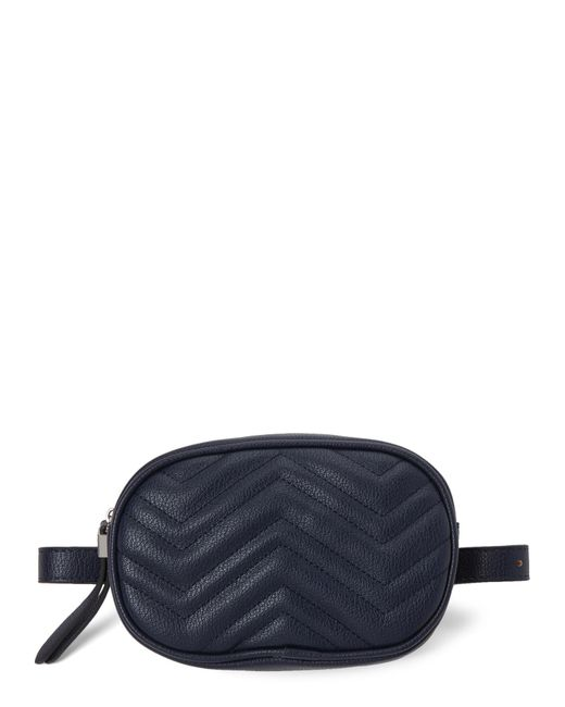 Moda Luxe - Blue Navy Sage Quilted Vegan Fanny Pack - Lyst