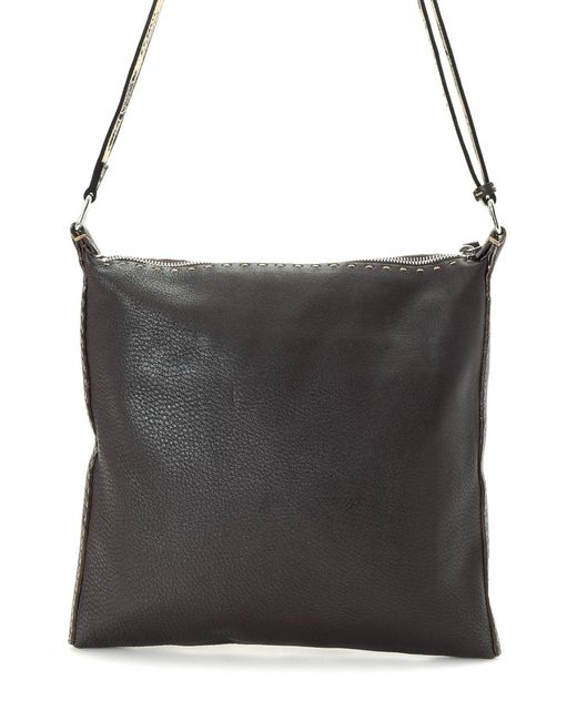 ... low price fendi brown messenger bag vintage for men lyst 4beb6 b186d ... fc9b6ab27c