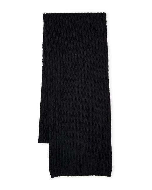 Sofia Cashmere | Black Rib Knit Cashmere Scarf | Lyst