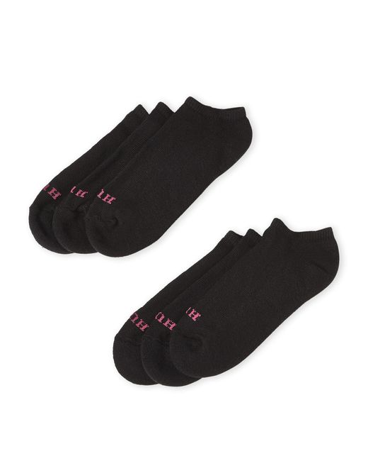 Hue - Black Pack Of 6 Solid No-Show Socks for Men - Lyst