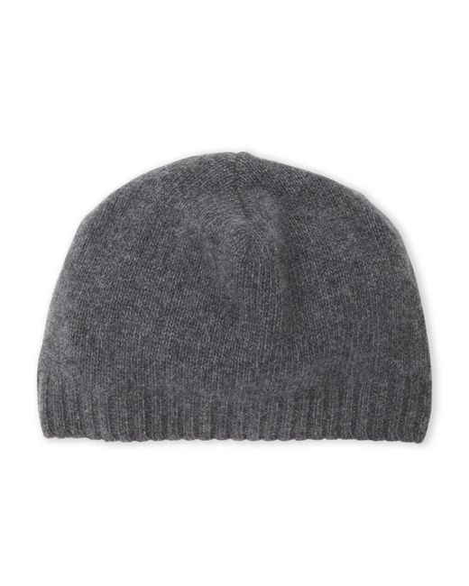 Portolano - Gray Cashmere Knit Beanie - Lyst