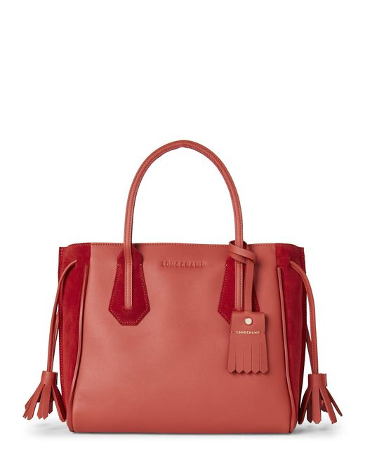 Longchamp - Red Burnt Orange Pénélope Fantaisie Small Tote - Lyst
