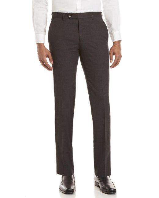 Zanella - Gray Medium Grey Plainweave Pants for Men - Lyst