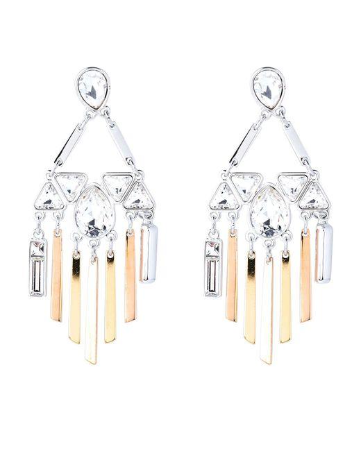 Swarovski - Metallic Airy Chandelier Earrings - Lyst