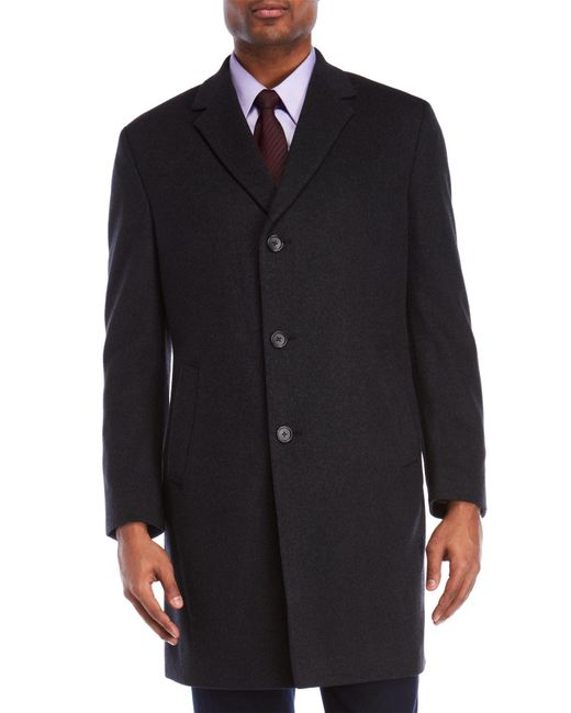 Kenneth Cole - Gray Raburn Charcoal Coat for Men - Lyst