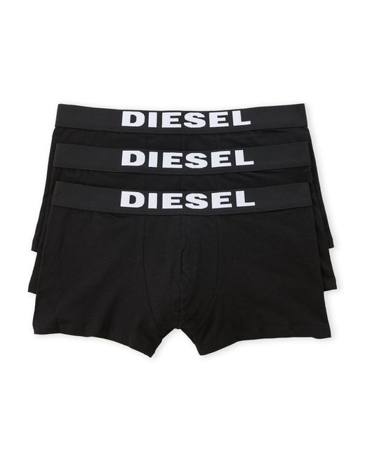 DIESEL - Black 3-pack Long Boxers for Men - Lyst