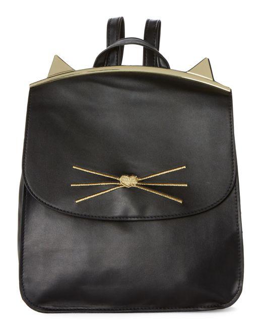 T-Shirt & Jeans - Black Cat Flap Backpack - Lyst
