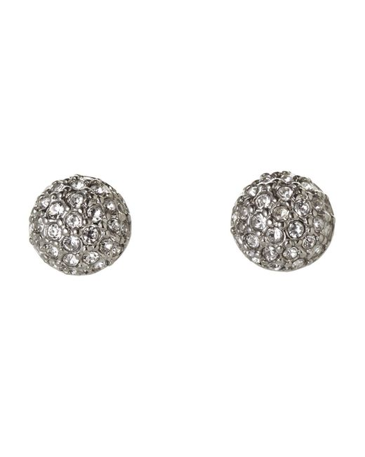 Givenchy - Metallic Silver-Tone Embellished Stud Earrings - Lyst