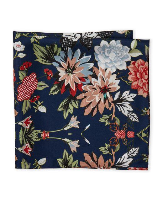 Laundry by Shelli Segal | Blue Floral Print Silk Scarf | Lyst