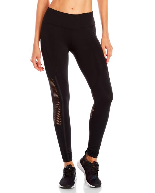 90 Degree By Reflex - Black Mesh Back Leggings - Lyst