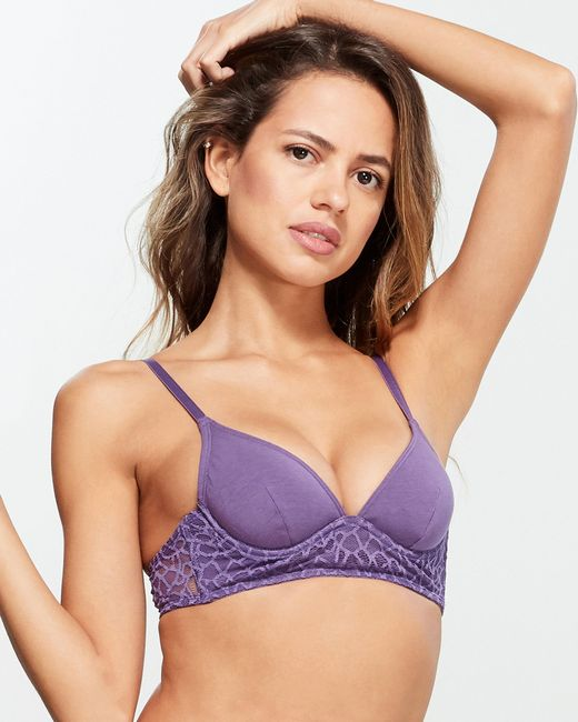 La Perla Multicolor Lace Trim Demi Underwire Bra
