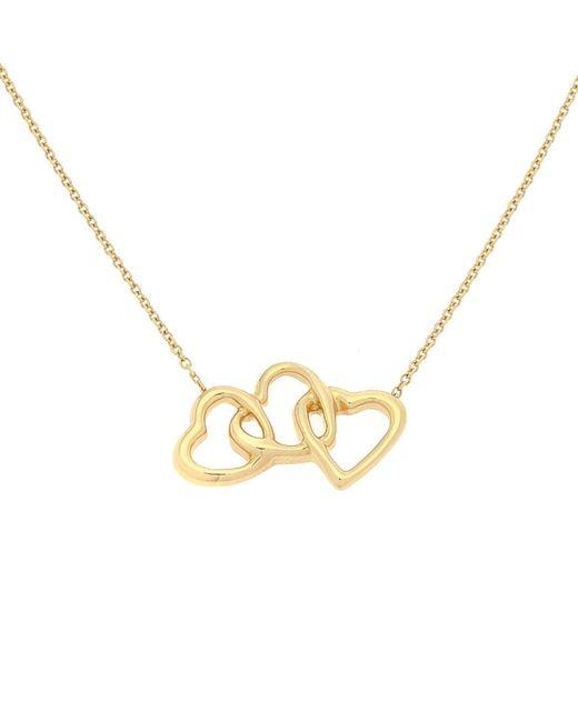 Tiffany & Co - Metallic Interlocking Hearts Pendant & Necklace - Vintage - Lyst
