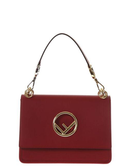 17f3007e851f Fendi Kan I F Shoulder Bag in Red - Lyst