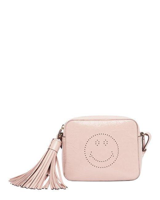 Anya Hindmarch - Pink Smiley Tassel Crossbody Bag - Lyst