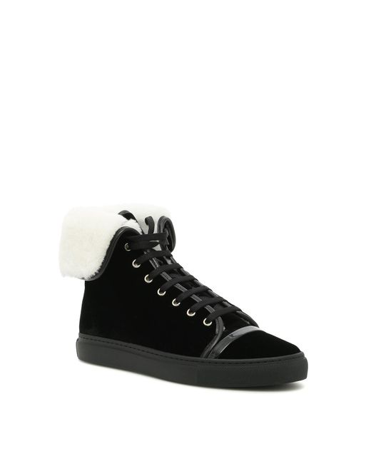 Sale Online Lanvin Mid-top sneakers with shearling 100% Original 3AGAZXS