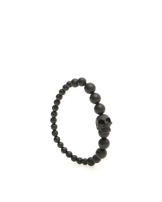 Alexander McQueen - Black Skull Beaded Bracelet for Men - Lyst