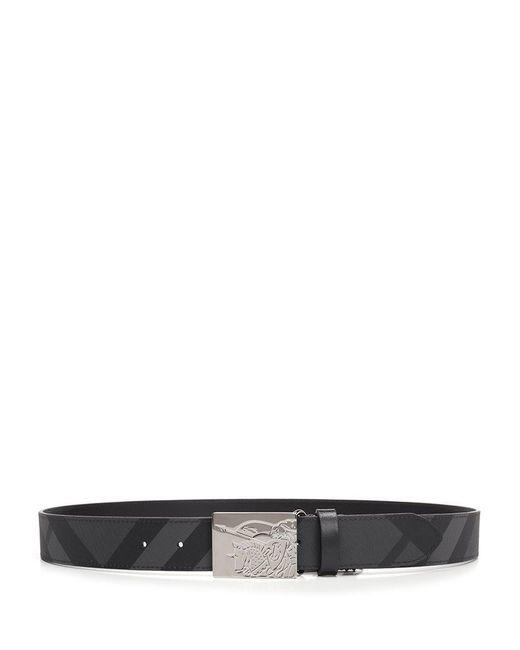 Burberry - Black London Check Belt for Men - Lyst