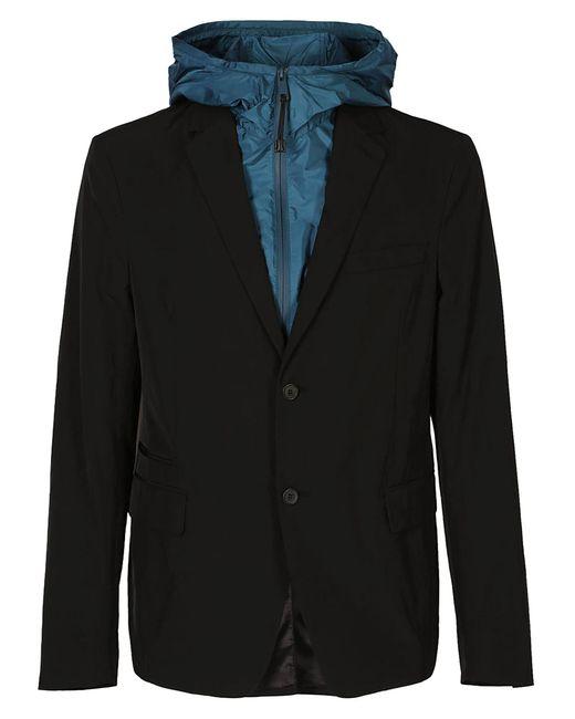 Prada - Black Hooded Double Layer Blazer for Men - Lyst