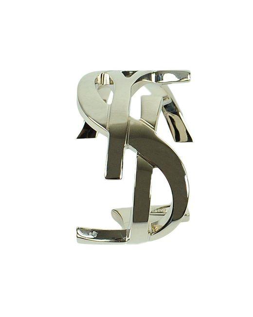 Saint Laurent - Metallic Signature Monogram Cuff - Lyst