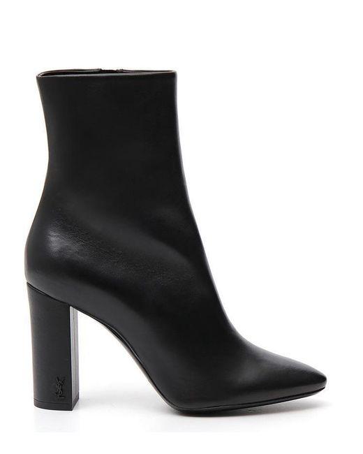 Saint Laurent - Black Lou 95 Ankle Boots - Lyst