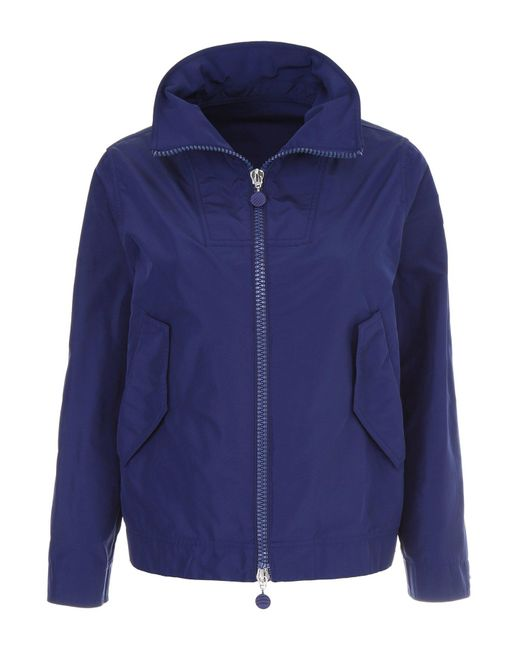 Moncler - Blue Zip Up Jacket - Lyst