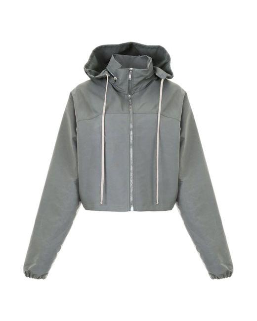 Rick Owens - Green Rainproof Cropped Hooded Jacket - Lyst