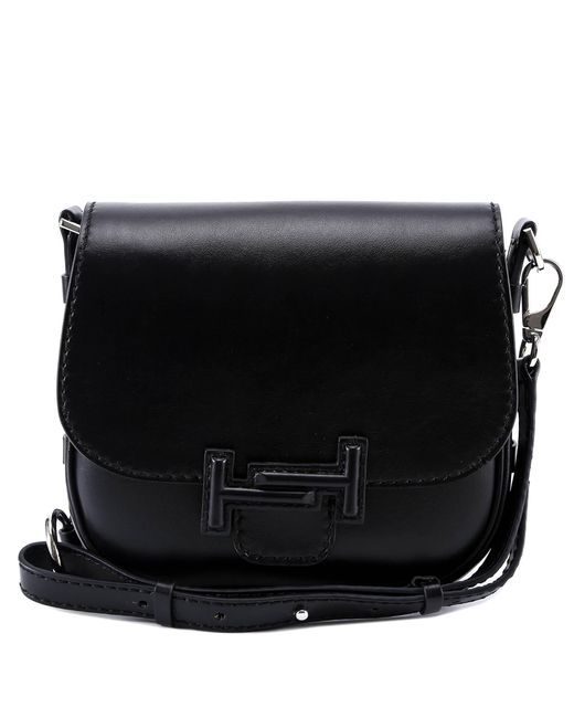 Tod's - Black Double T Saddle Bag - Lyst
