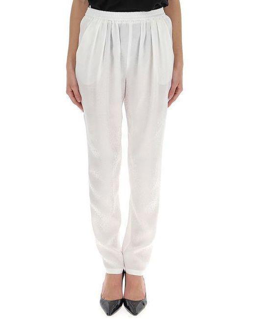 Stella McCartney - White Gathered Waist Trousers - Lyst