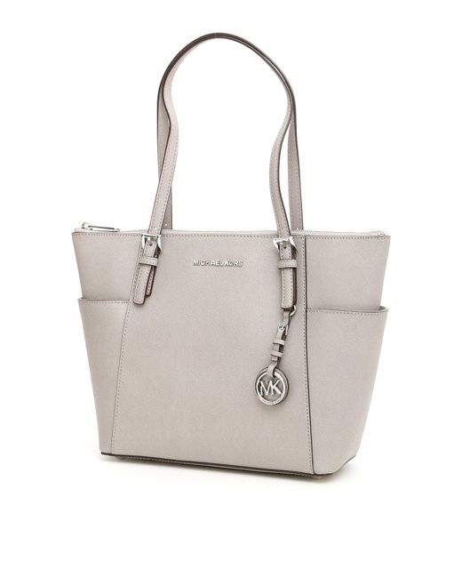MICHAEL Michael Kors - White Large Jet Set Tote Bag - Lyst