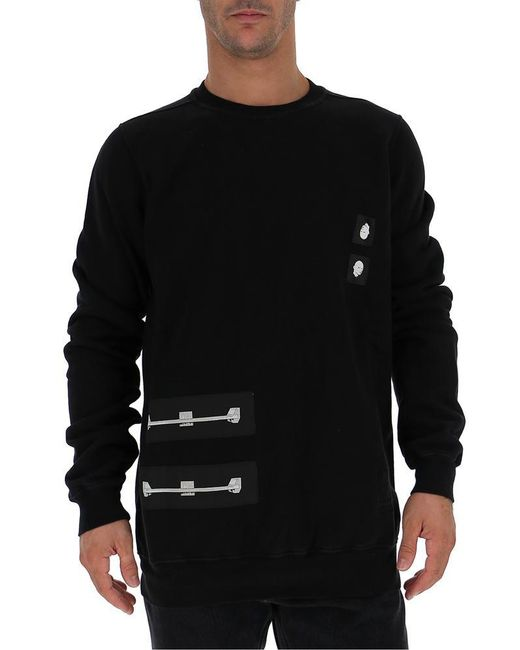 Rick Owens Drkshdw - Black Patch Jersey Sweatshirt for Men - Lyst