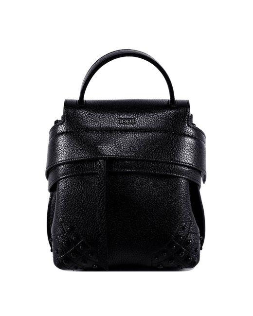 Tod's - Black Wave Mini Backpack - Lyst