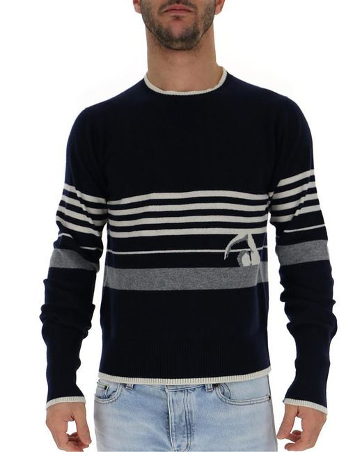 Thom Browne - Blue Striped Pullover for Men - Lyst