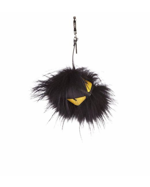 Fendi Black Monster Eye Keyring