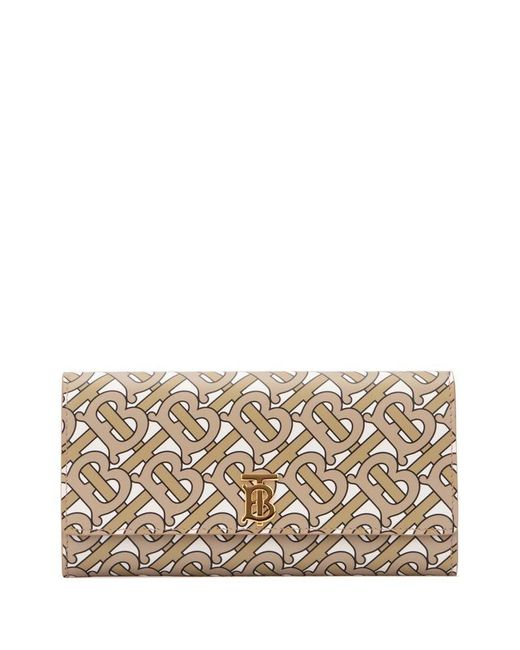 Burberry Natural Monogram Print Continental Wallet