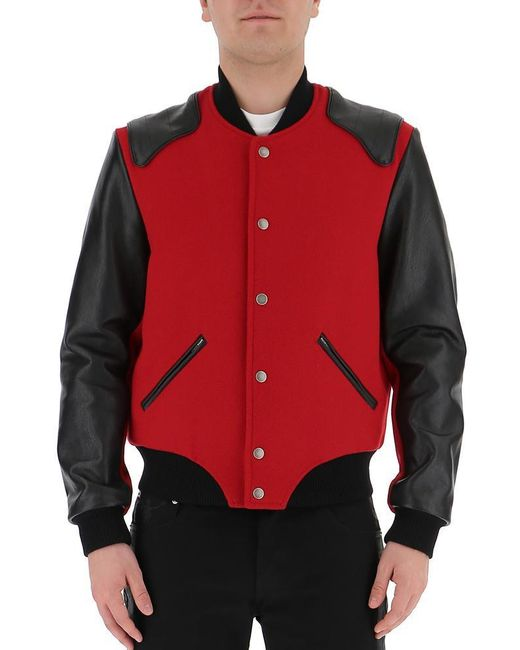 Saint Laurent - Red Casual Jackets for Men - Lyst