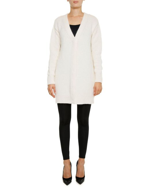Moncler Gamme Rouge - White Back Logo Knitted Cardigan - Lyst
