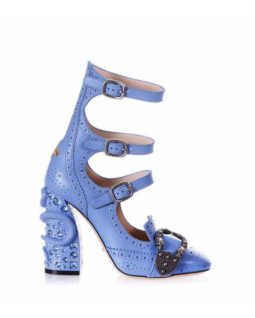 Gucci - Blue Queercore Buckle Heeled Pumps - Lyst