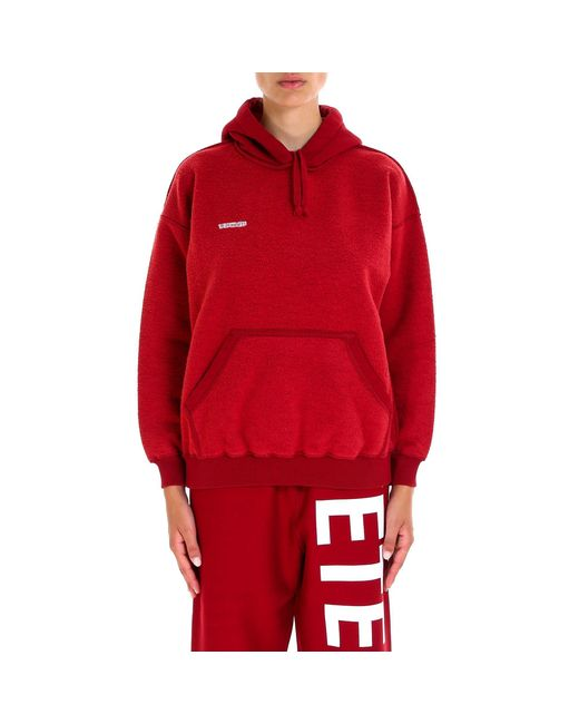 Vetements - Red Inside Out Hoodie for Men - Lyst