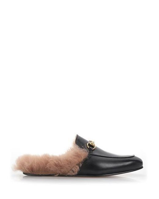 035b78786 Gucci - Multicolor Princetown Fur Loafer Slippers for Men - Lyst