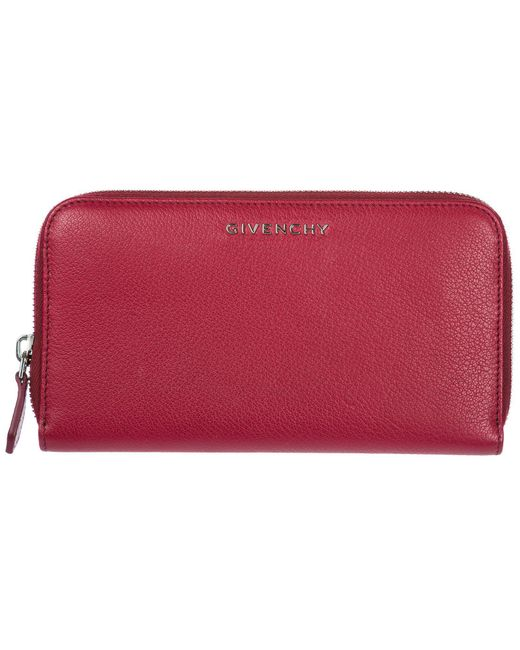 Givenchy - Red Pandora Zip Wallet - Lyst