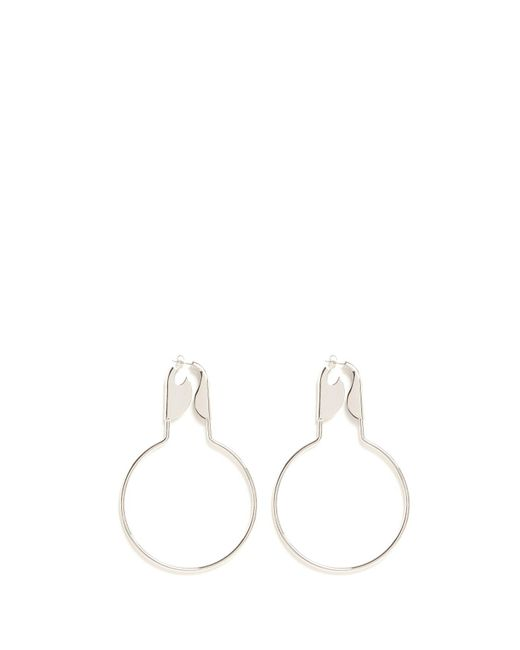 Balenciaga - Metallic Safety Pin Earrings - Lyst