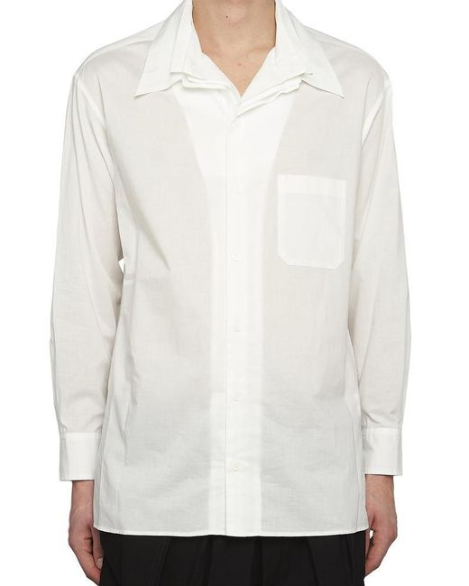 Yohji Yamamoto - White Layered Collar Shirt for Men - Lyst