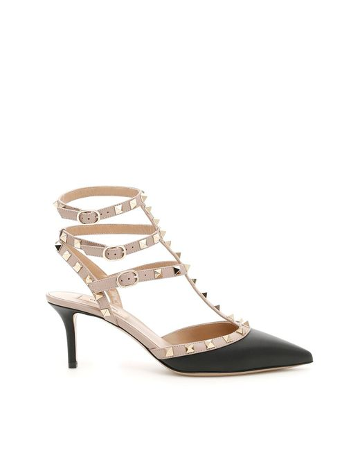 Valentino - Natural Rockstud Studded Patent Leather Pumps  - Lyst