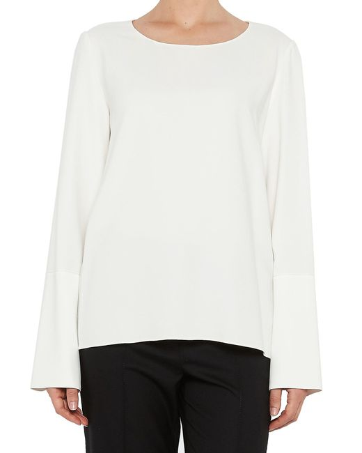 The Row - White Long Sleeved Blouse - Lyst